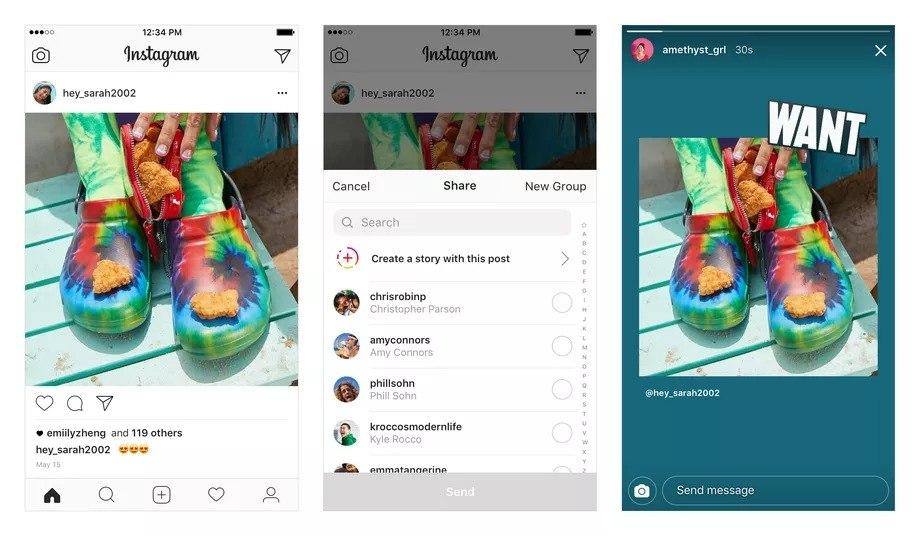 Instagram paylaşımlarını doğrudan hikayelere ekleyebilirsiniz