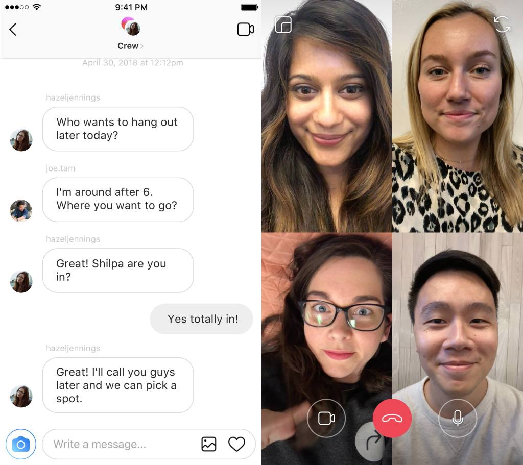 instagram video sohbet