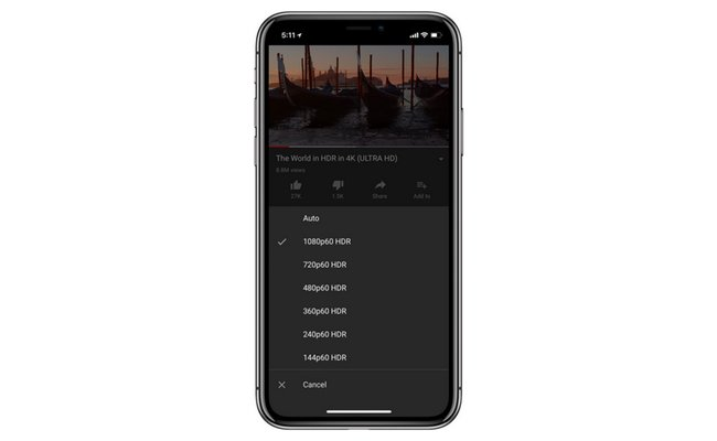 YouTube iPhone Xs ve Xs Max için HDR desteğini ekledi