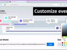 Firefox için renkleri düzenleyen ve sekmeleri yan yana görüntüleyen iki deneysel özellik