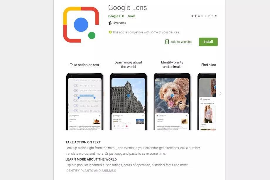 google lens google play