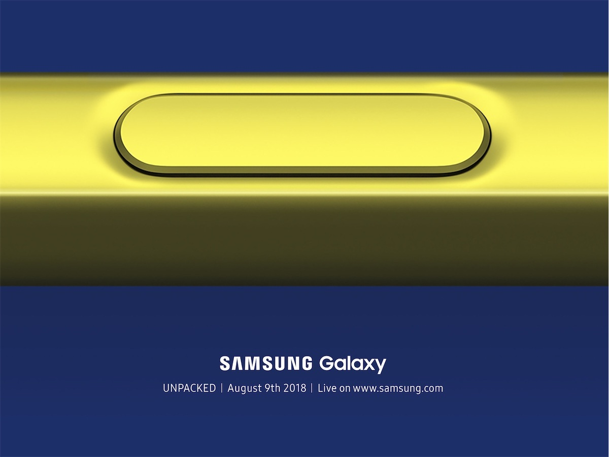 samsung galaxy note 9 tanıtım 9 ağustos