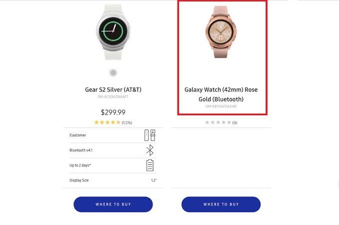 Samsung Galaxy Watch roze altın rengiyle kendisini gösterdi