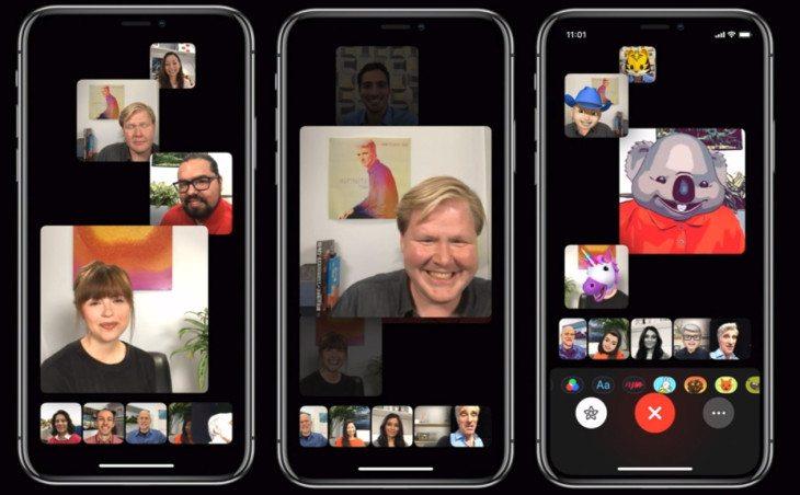 Grup FaceTime iOS 12.1'in geliştirici betasında yerini aldı