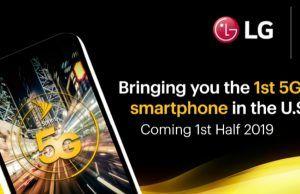 Sprint LG ile birlikte 2019'un ilk yarısında 5G telefon çıkaracak