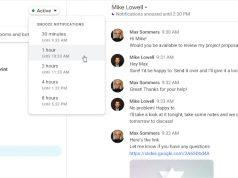 Google Hangouts Chat bildirimlerini ertelemeyi mümkün kılıyor