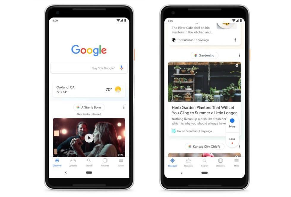 Google mobil ana sayfasını Keşfet adıyla yeniden tasarlıyor