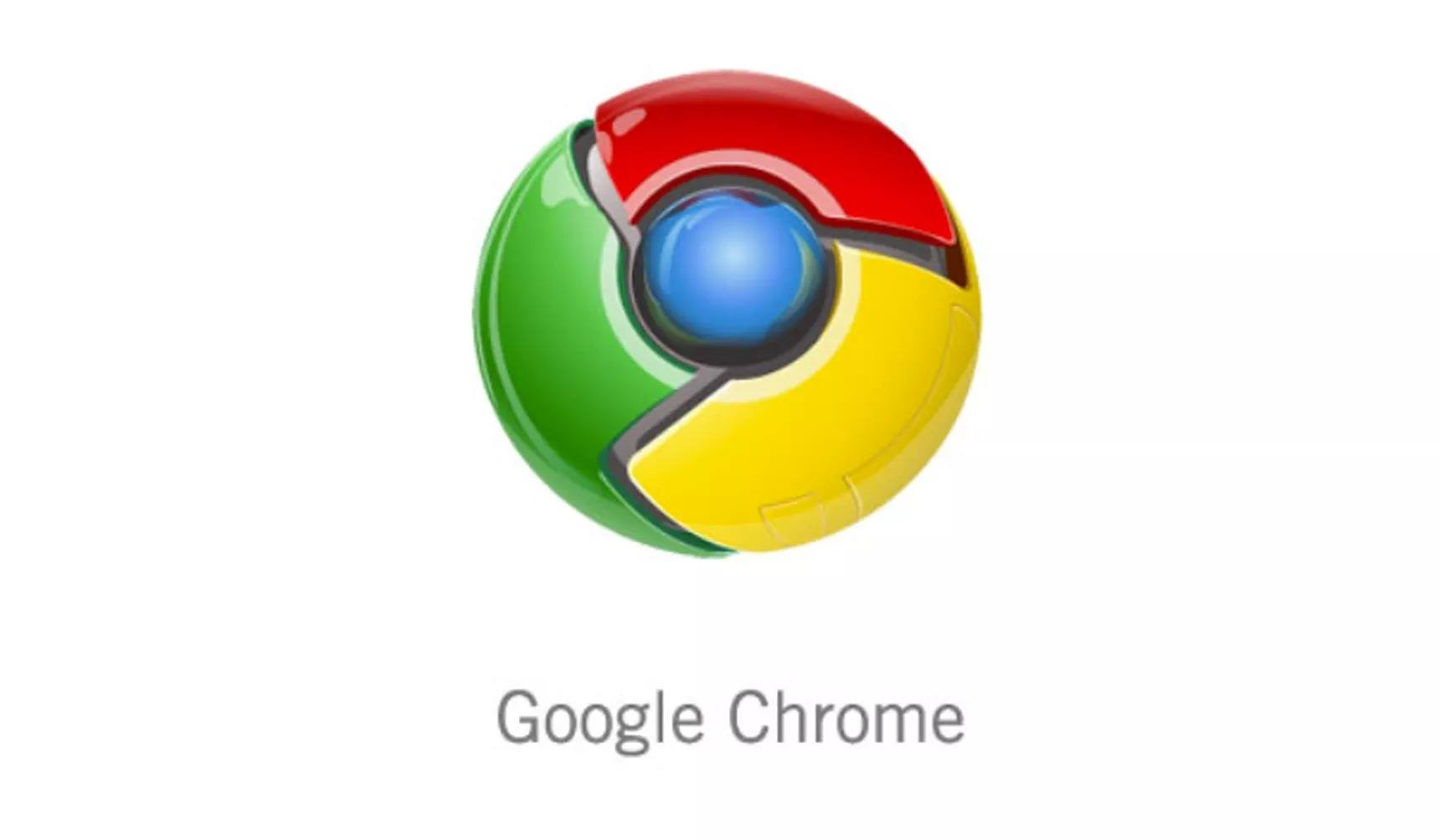 Google Chrome'un ilk logosu