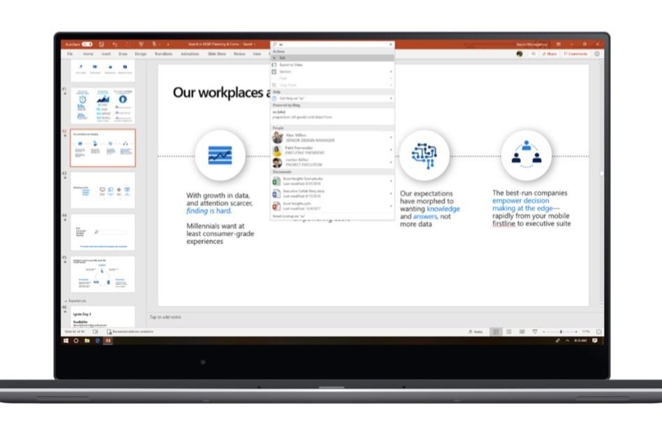 Microsoft Search: Office, Windows ve Bing için yeni bir arama deneyimi