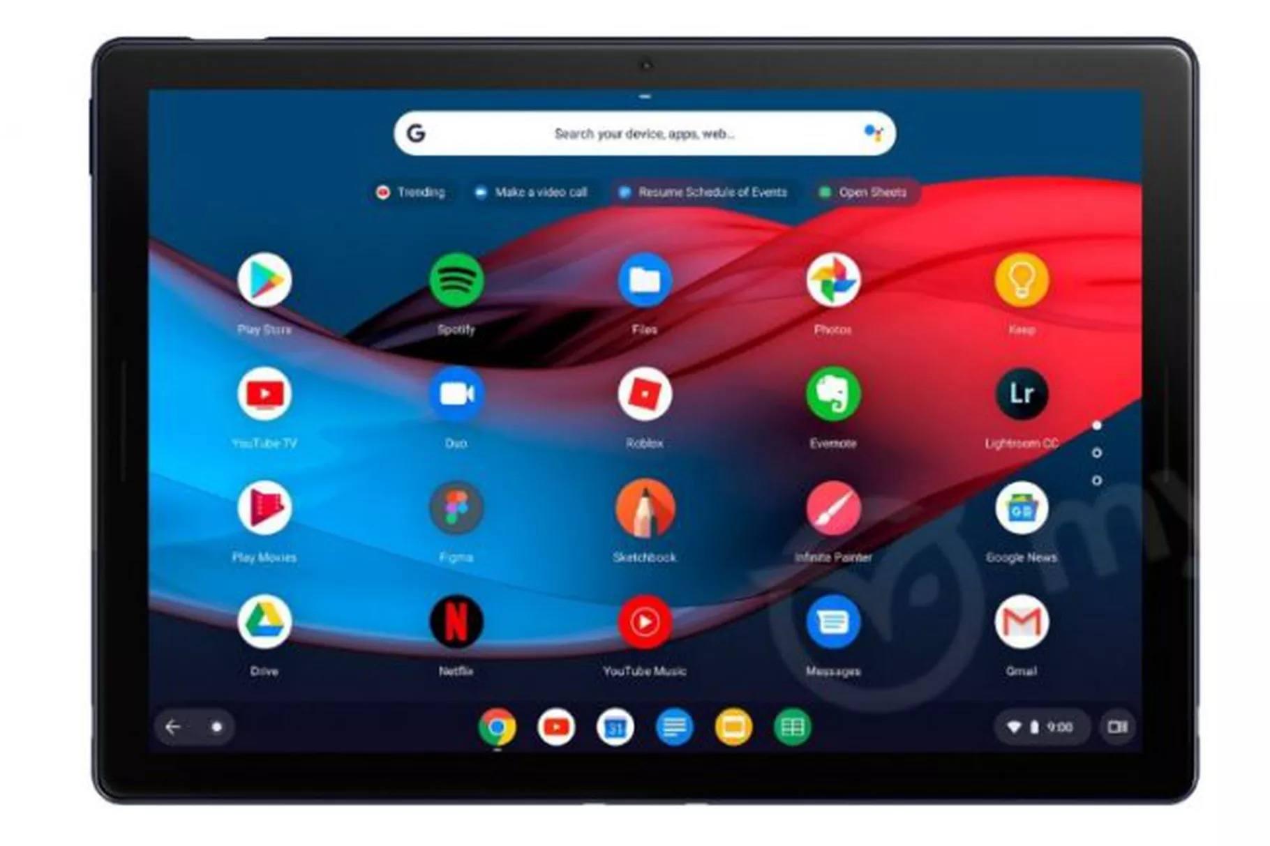 Google Pixel Slate tablet sızıntısı USB-C portunu gösteriyor