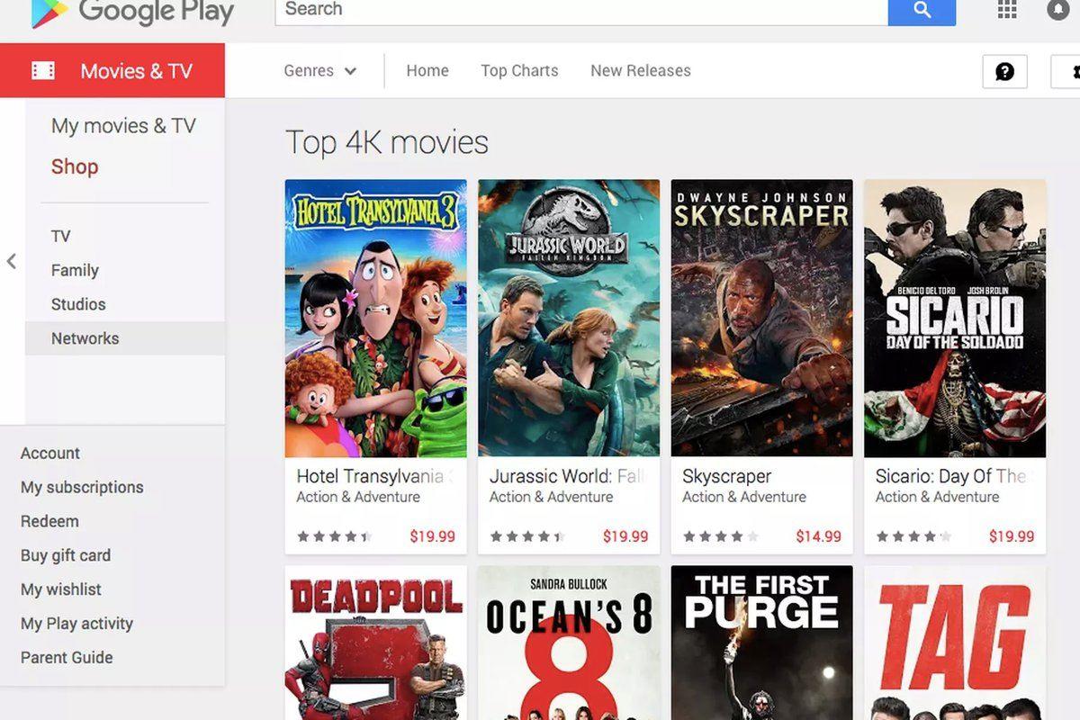 Google Play satın alınan filmleri 4K'ya yükseltiyor