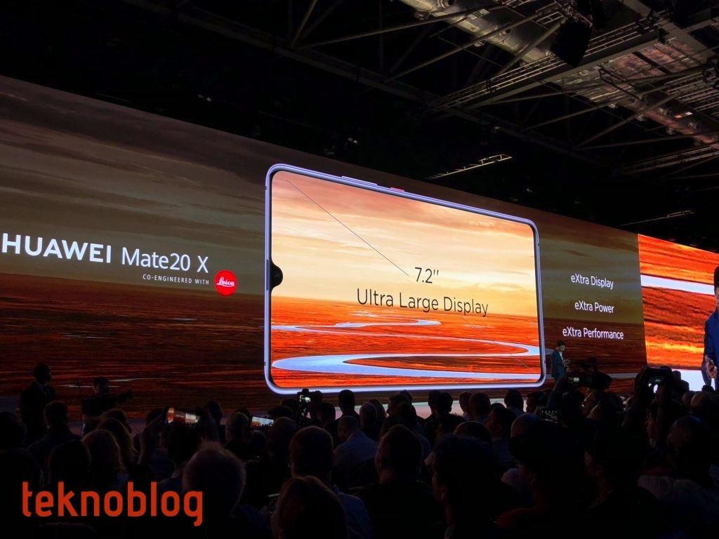 Huawei Mate 20 X 7.2 inçlik devasa ekranıyla geliyor