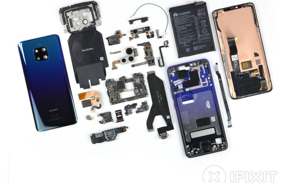 Huawei Mate 20 Pro iFixit tarafından parçalarına ayrıldı