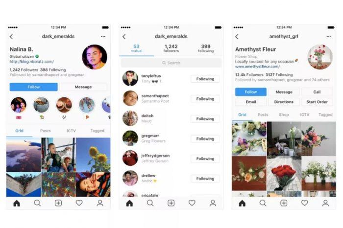 instagram yeni profil sayfası
