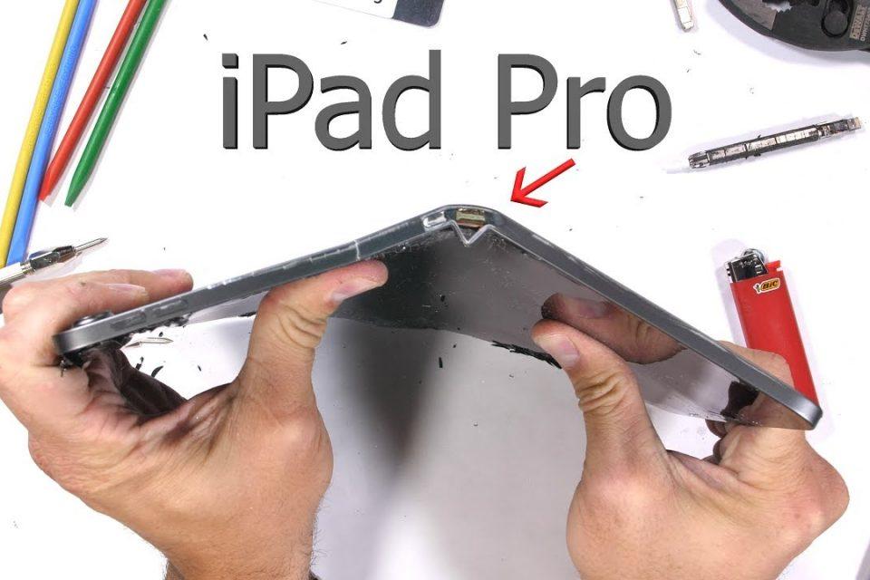 Videoya göre Apple'ın yeni iPad Pro'su kolaylıkla bükülebiliyor