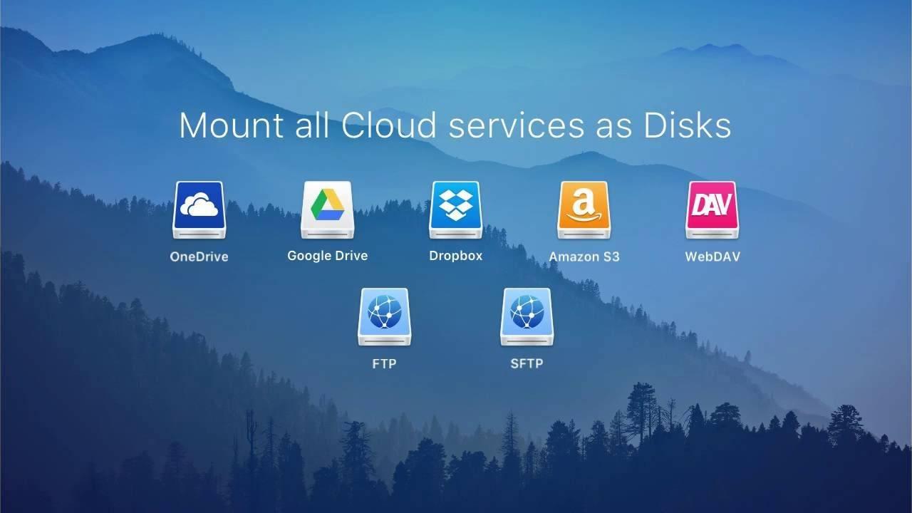 CloudMounter: Bulut servislerinizi Finder'a veya Windows Gezgini'ne taşıyın