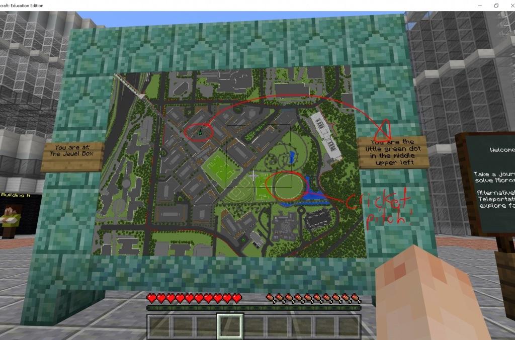 Microsoft yenilenmiş merkez yerleşkesini önce Minecraft'ta inşa etti