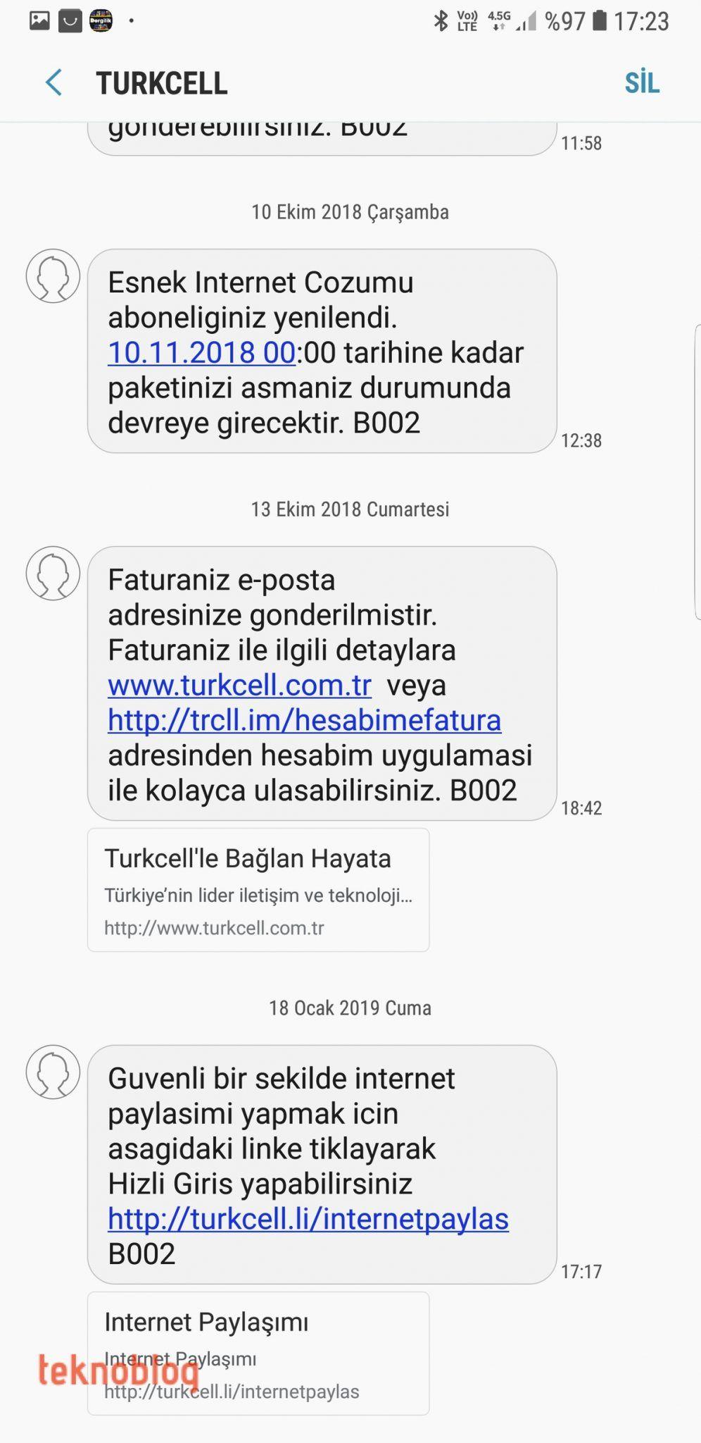 turkcell hızlı giriş internet paylaşımı