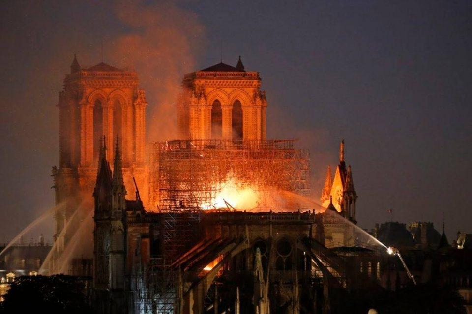 notre dame katedrali dji drone
